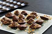 Chocolate and hazelnut madeleines