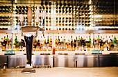 A modern bar setting