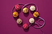 Mini cupcakes for Valentine's Day