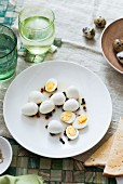 Pickled quails eggs