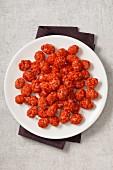 A plate of roasted peanuts