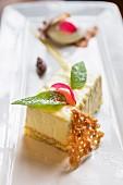 Yoghurt Bavarois with passion fruit, Restaurant Bordò, Torino, Piedmont, Italy