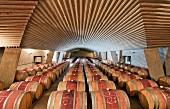 Fasskeller von Vina Perez Cruz, aus Monterey-Kiefernholz gebaut (Maipo Valley, Chile)