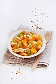 Spicy orange salad with spring onions