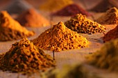 Piles of curry powder