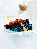 Colourful berry salad