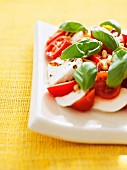 Insalata Caprese (tomatoes with mozzarella and basil, Italy)
