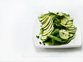 Courgette and pea salad