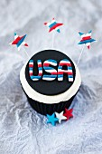 A 4th of July cupcake (USA)