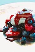 Berries with cream