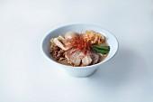 Ramen soup with egg and pork (Japan)