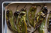 Roasted Anaheim chilli peppers