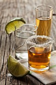 Tequilla shots: blanco, joven and reposado