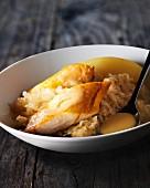 Haddock with sauerkraut and potatoes