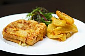 Croque Monsieur with chips