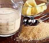 Ingredients for making fudge
