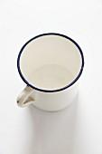 An enamel mug