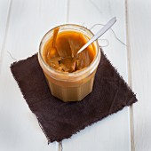 A jar of dulce de leche