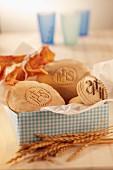 Stamped unleavened bread