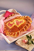 A sweet bread heart for Mother's Day