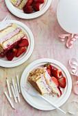 Geburtstagstorte mit Erdbeeren