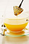 Hot toddy with honey and orange