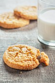 Ginger cookies and a glass of milk