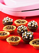 Pecan pies and Inside Out Rocky Road cupcakes