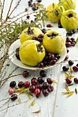 Quinces and cranberries