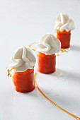 Carrot sweets with cream