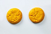 Two banana and passion fruit cookies