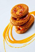 Cookies with mango sauce