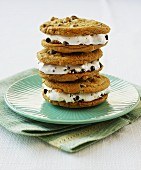 A stack of ice-cream sandwiches