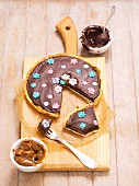 Mazurek (Easter Cake, Poland) with poppyseeds, peanut butter and chocolate