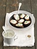 Geräucherter Aal mit Meerrettich-Ricotta-Creme