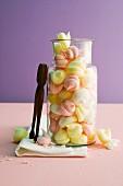 Colourful fruit meringues