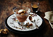 Chocolate orange mousse and espresse