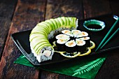 Sushi rolls with cucumber and salmon (Japan)