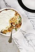 Sauerkraut-Pilz-Auflauf