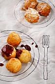 Quark doughnuts and apple doughnuts