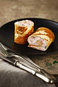 Pancake rolls filled with berry quark