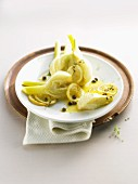 Fennel with a lemon and caper sauce