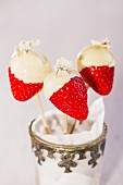 Strawberries dipped in white chocolate
