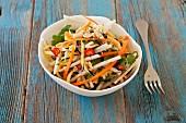 Jicama salad with carrots and peanuts (Thailand)