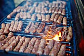 Cevapcici on a barbecue