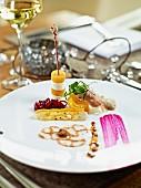A festive appetizer platter
