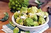A bowl of Romanesco cauliflower florets