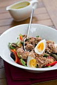 Nizza salad with tuna and egg