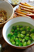 Brussels sprouts softening in water