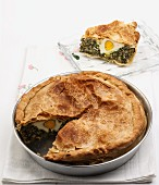 Torta Pasqualina (spinach and egg pie, Italy) for Easter
